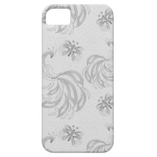 Grey, elegant retro peacock pattern with halftones case for the iPhone 5