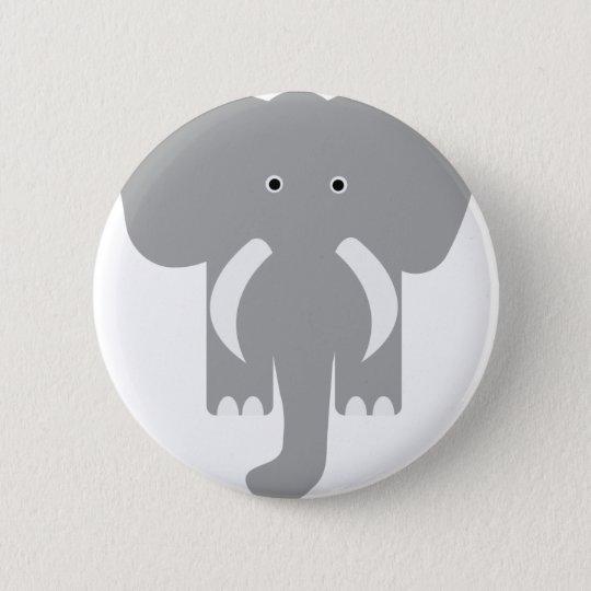 grey elephant 6 cm round badge