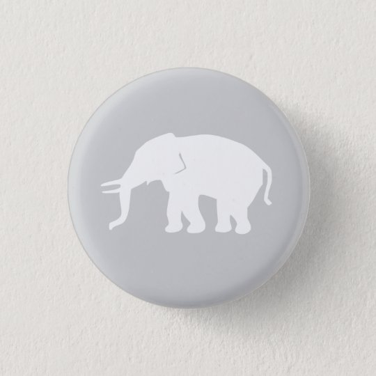 Grey Elephant Button