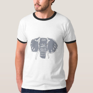 Grey Elephant mens ringer t-shirt
