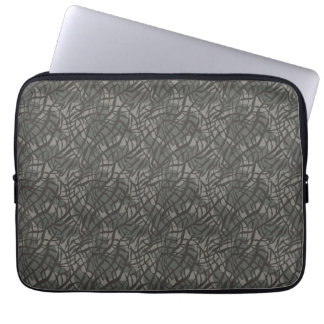 Grey Elephant Skin Pattern Computer Sleeves