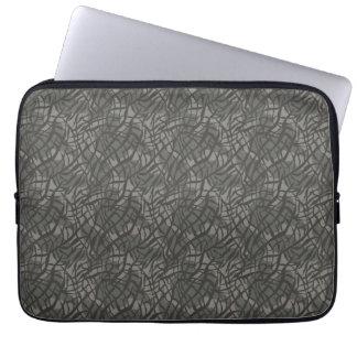 Grey Elephant Skin Pattern Laptop Computer Sleeve