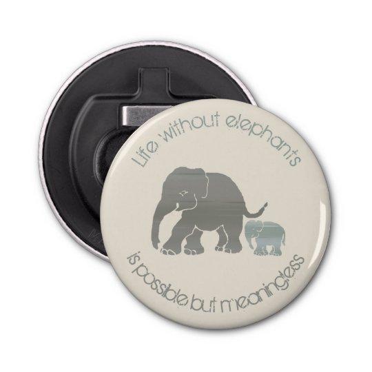 Grey Elephant with Baby Inspirational Funny Slogan Bottle
