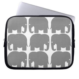 Grey Elephants Silhouette Electronics Bag Computer Sleeves