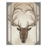 Grey Elk Print