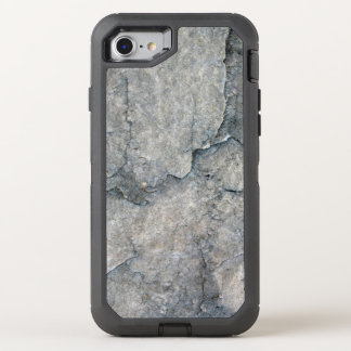 Grey Eroded Rock Texture OtterBox Defender iPhone 8/7 Case