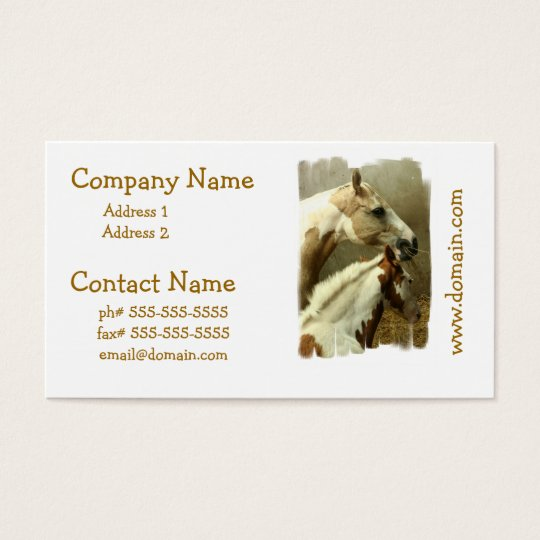 Grey Eventing Horse Business Cards