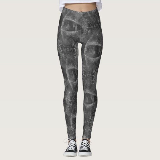"Grey ""Eye See You"" Pattern Leggings"