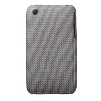 Grey Fabric Pattern Case-Mate iPhone 3 Case
