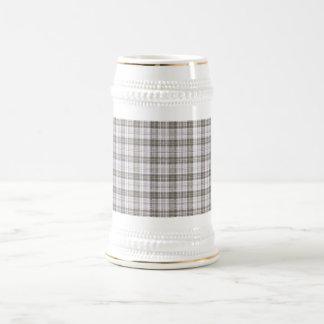 Grey fashion tartan beer stein
