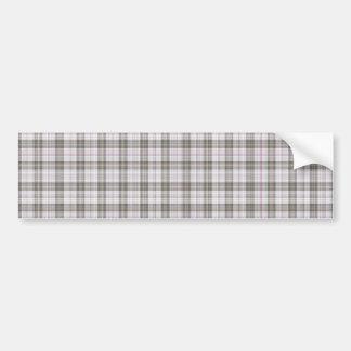 Grey fashion tartan bumper sticker
