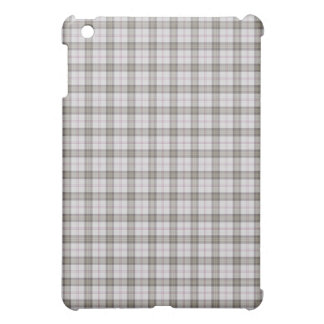 Grey fashion tartan iPad mini case