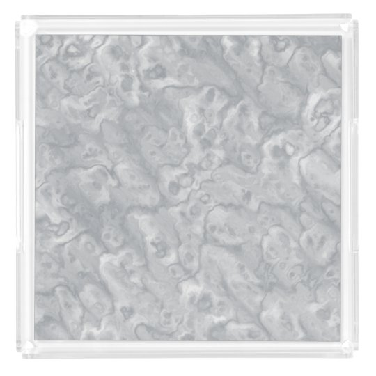 Grey Faux Marble Acrylic Decorative Tray Gift