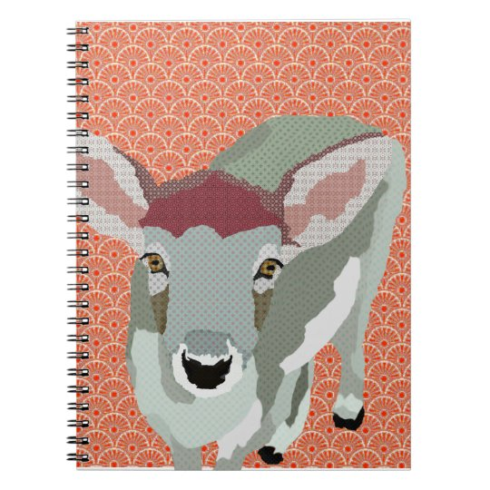 Grey Fawn Orange Notebook