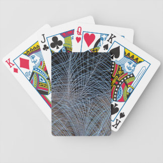 Grey Feather Abstract Bicycle Playing Cards
