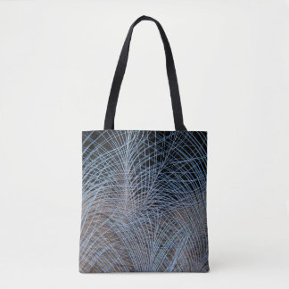 Grey Feather Abstract Tote Bag