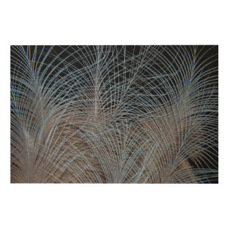 Grey Feather Abstract Wood Wall Art