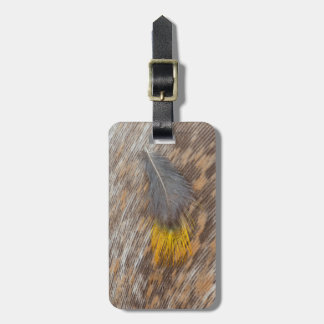 Grey Feather Still Life Luggage Tag