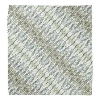 Grey Feathers Patterned Bandana