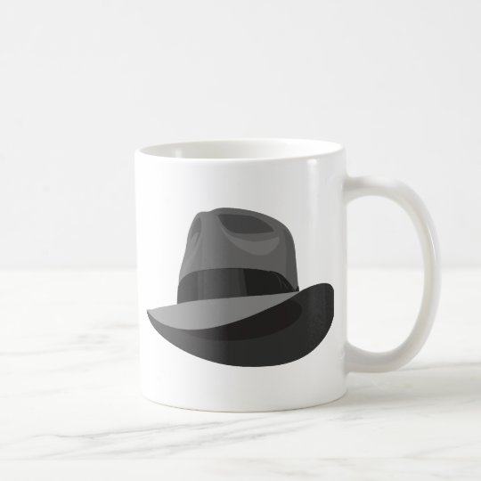 Grey Fedora wide ribbon Coffee Mug