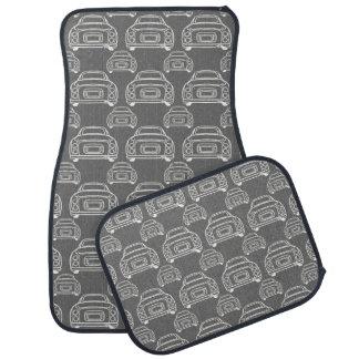 Grey Figaro Car Mats - Monoline Pattern Floor Mat