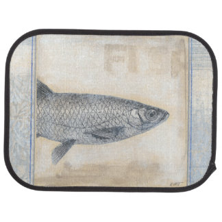 Grey Fish on Beige Background Car Mat