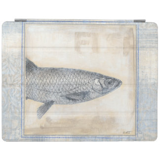 Grey Fish on Beige Background iPad Cover