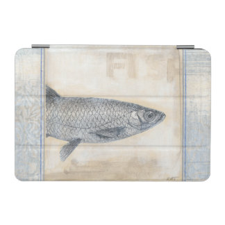 Grey Fish on Beige Background iPad Mini Cover