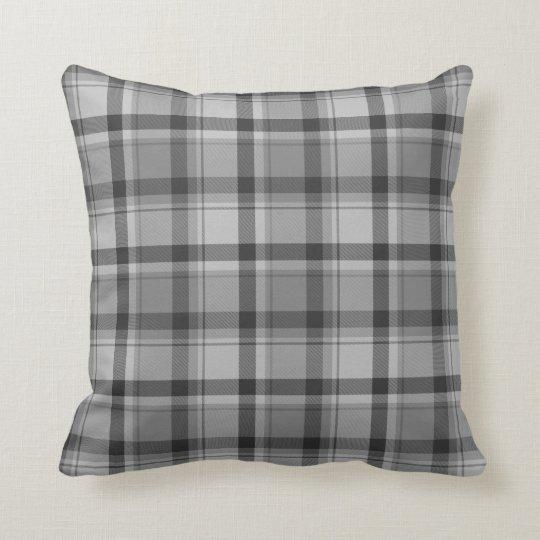 "Grey Flannel Print Throw Pillow 16"" x 16"""