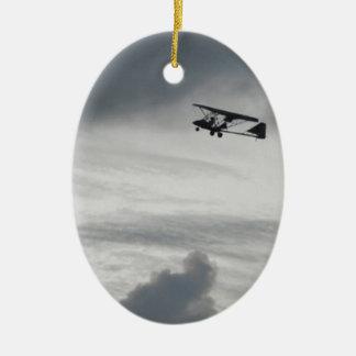 Grey Flight Ceramic Oval Decoration