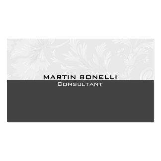 Grey Floral Damask Special Unique Pack Of Standard Business Cards