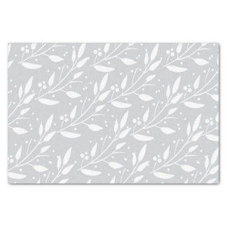 Grey Floral Tissue Paper