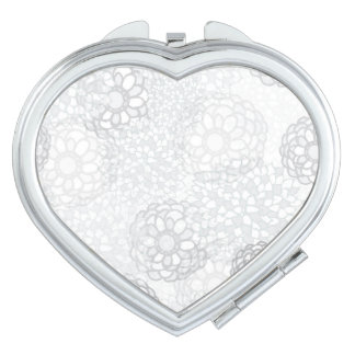 Grey Flower Burst Design Vanity Mirror