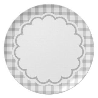 Grey Flower Plate