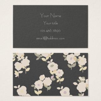 Grey, Flowers Business Card
