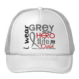 Grey For My Hero 2 Dad Brain Cancer Cap