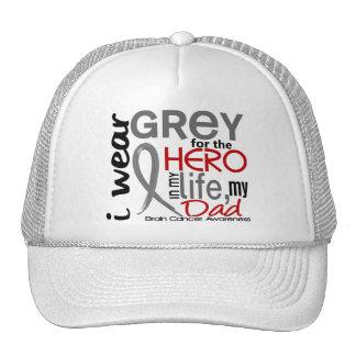 Grey For My Hero 2 Dad Brain Cancer Trucker Hat