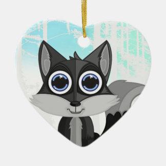 Grey Fox Christmas Ornament