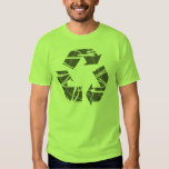 Grey Fractured Recycling Sign T Shirts