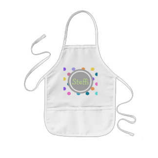 Grey fun dots of confetti color kids apron