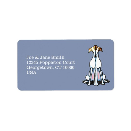 Grey Gathering Blue Address Label