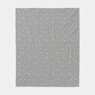 Grey geometric pattern Fleece blanket