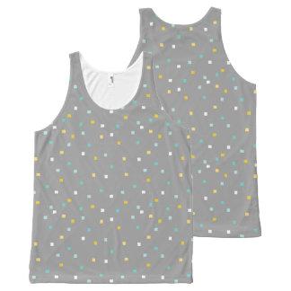 Grey geometric pattern Tank top