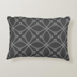 Grey Geometric Pillow
