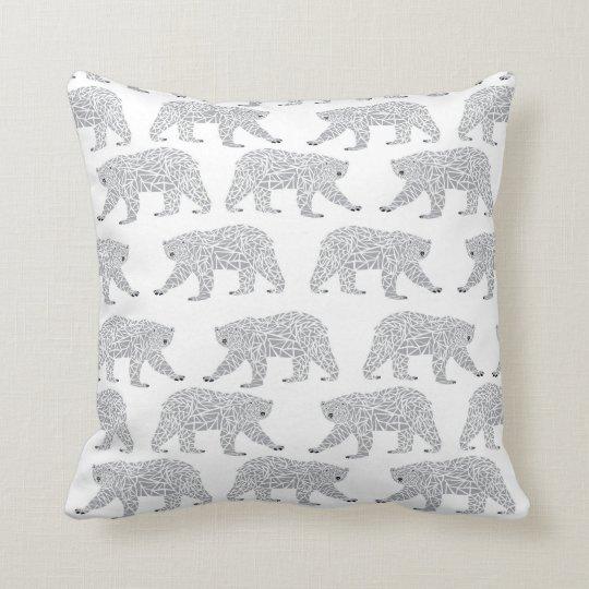 Grey Geometric Polar Bear Design - Minimal Baby