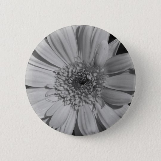 Grey Gerbera Button