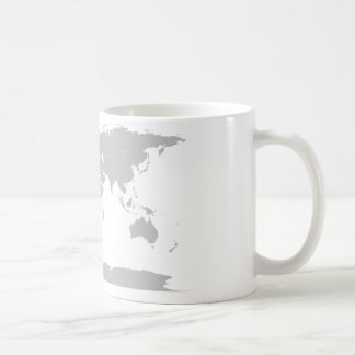 grey globe basic white mug