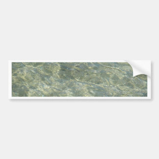 Grey golden shades of water bumper stickers