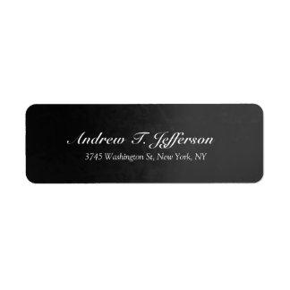 Grey Gradient Handwriting Professional Personal Return Address Label