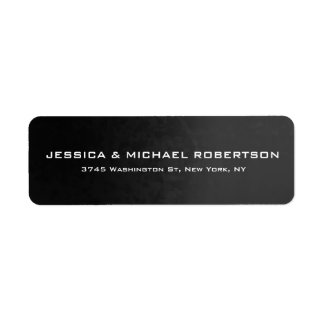 Grey Gradient Plain Elegant Modern Trendy Family Return Address Label